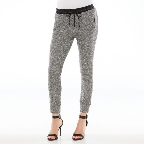 1010 marled french terry jogger pants