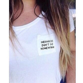 t-shirt tumblr kawaii mermaids are real