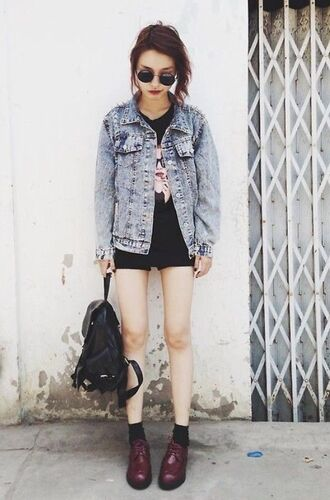 jacket denim oversized retro thrift blue tumblr oversized denim jacket denim jacket faded denim faded blue tumblr outfit
