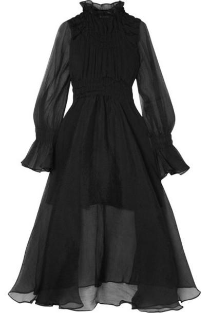 Beaufille dress midi dress chiffon midi black