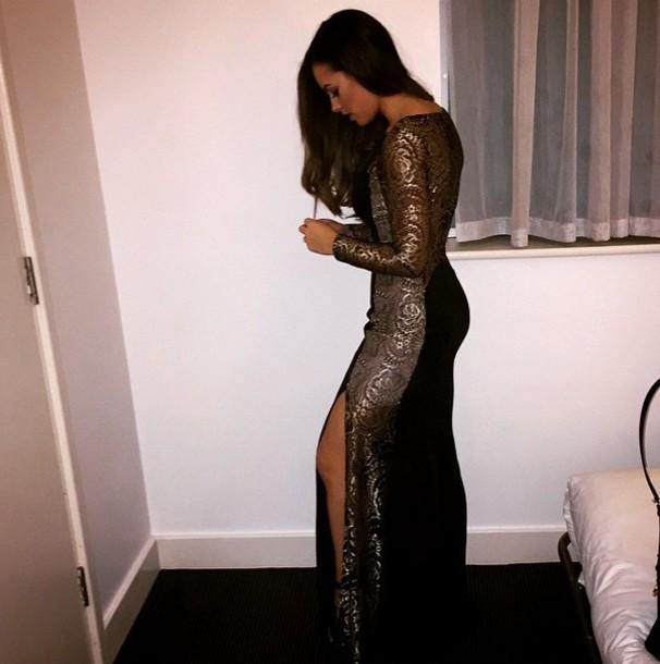 dress female gold black silver gold dress black dress silverdress fashion prom prom dress desperate!!!