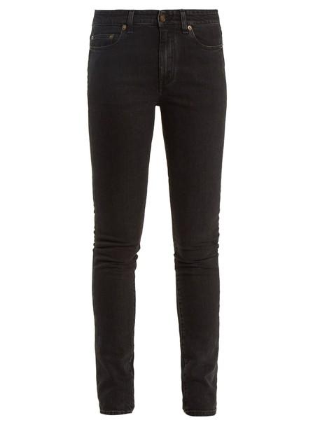 Saint Laurent jeans skinny jeans black