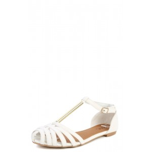 Qupid Palmer-100 Caged T Strap Sandals-MakeMeChic.com
