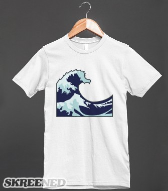 iPhone Wave Emoji Shirt | Fitted T-shirt | Skreened