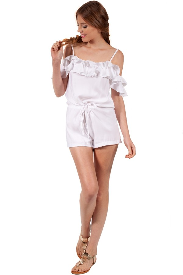 dress romper white ruffle cute summer