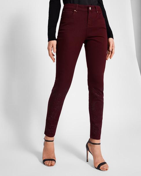 Ted Baker jeans skinny jeans embellished oxblood