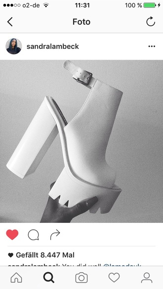 shoes high heels beautiful love cut out ankle boots ankle boots white boots