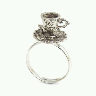 jewels ring alice in wonderland silver