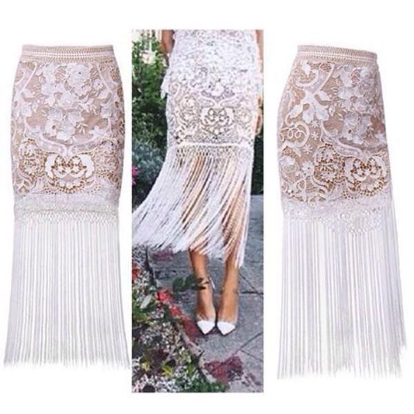 Skirt: lost souls, white skirt, lace skirt, white lace skirt ...
