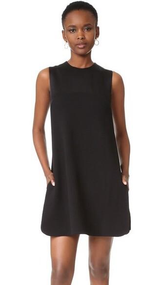 dress shift dress layered black