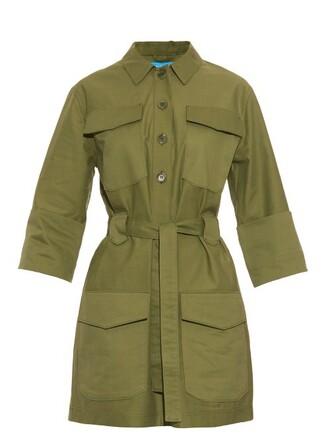 dress tunic dress cotton khaki