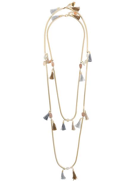 metal women necklace yellow orange jewels