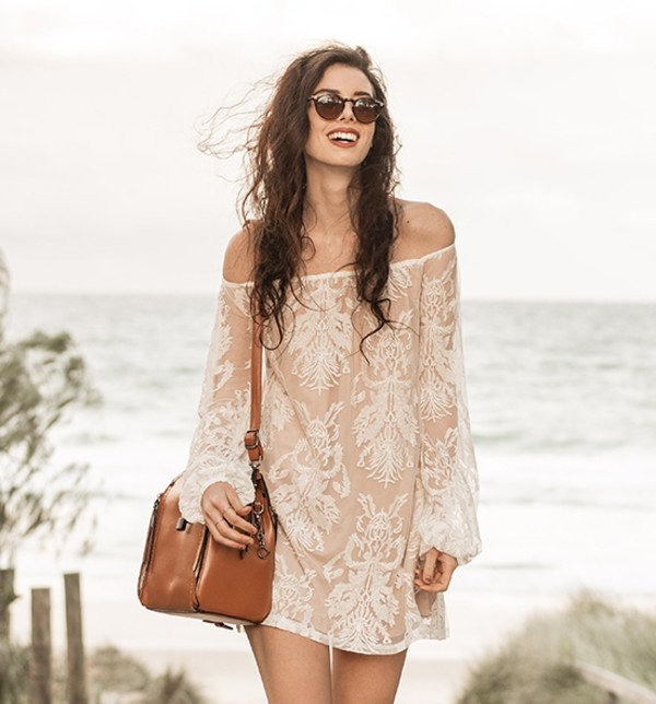 summer dress stylemoi streetstyle bag leather bag off the shoulder dress