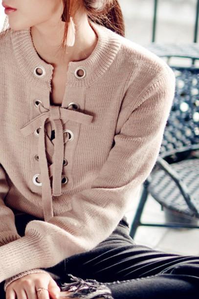 Sweater Knit Ribbon Ribbon Knit Fall Outfits Fall