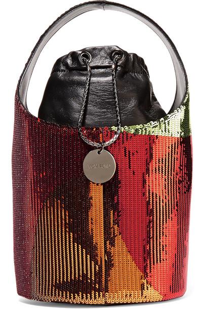 Tom Ford mini bag bucket bag leather metallic