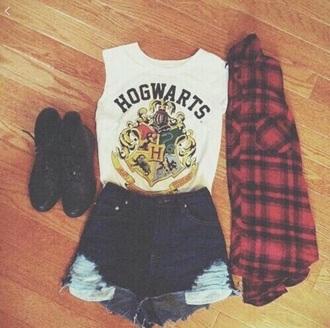 shirt crop harry potter hogwarts hogwarts tank top