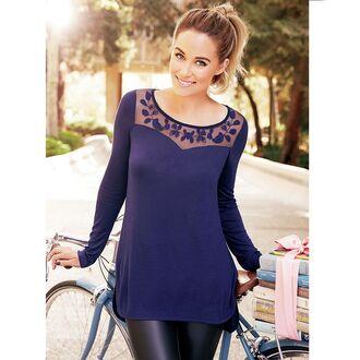 lauren conrad blouse blue