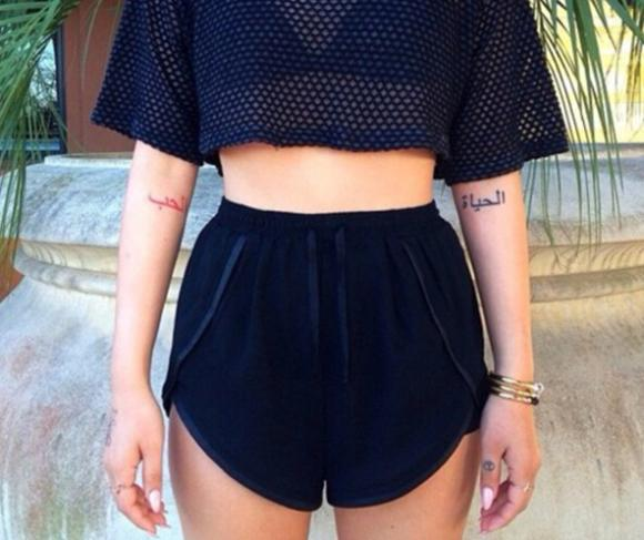 Shorts dark blue cute summer high waisted short t shirt short set high waisted pants -in Shorts from Apparel & Accessories on Aliexpress.com
