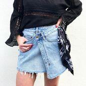skirt,blue and cream,ksubi,denim,denim skirt,asymmetrical,blue jean skirt,summer outfits,fall outfits,rock