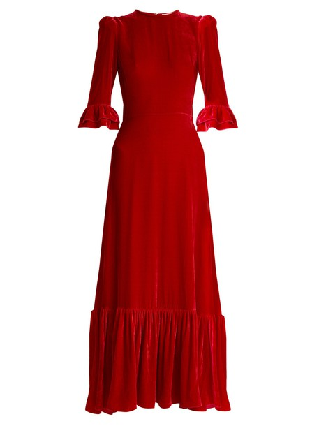 THE VAMPIRE'S WIFE dress velvet dress velvet red