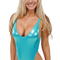 Womens one piece thong swim suit in mystique hawaii mint