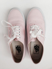 shoes,sneakers,pink,pastel sneakers,vans,pale,pastel,romantic,white,laces,summer shoes