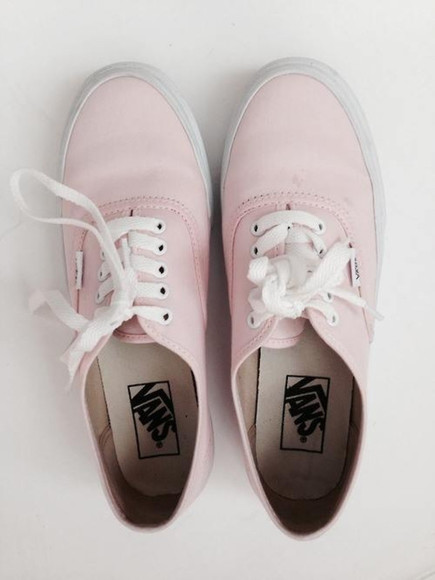 shoes pink vans romantic laces white sneakers pastel