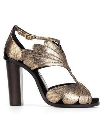 metallic sandals shoes