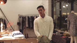 sweater white knit brian puspos wide neck winter outfits winter sweater