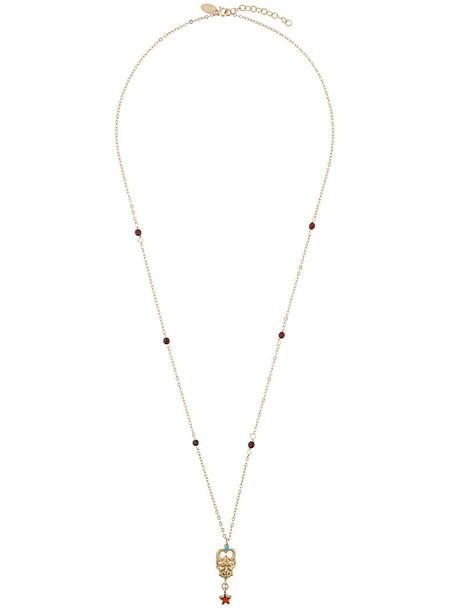 IOSSELLIANI long necklace long women necklace gold silver grey metallic jewels