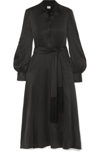 Hillier Bartley dress midi dress midi black silk