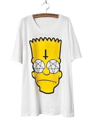 Bart simpson pentagram inverted cross shirt from dancing with devils on storenvy