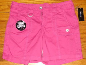Co Womens Casual Walking Shorts Tummy Control 6P Petite Pink ...