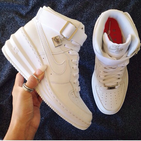wedges high top buckle shoes nike air force 1 air force one women's heel nike air nike force high top sneakers nike sneakers nike sneakers baskets