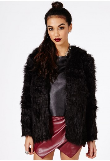 Maaya Faux Fur Coat - Coats & Jackets - Coats - Missguided