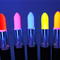 Uv lipstick red green blue pink yellow orange purple neon rave disco | ebay