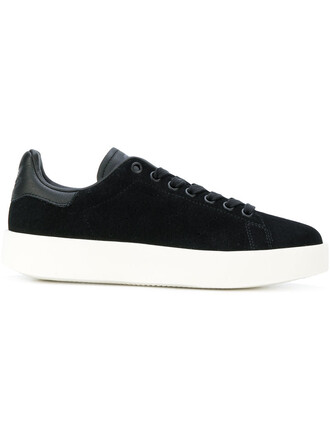 women sneakers suede black shoes