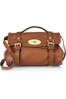 the alexa leather satchel