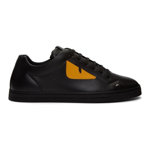 Fendi Black 'Bag Bugs' Sneakers