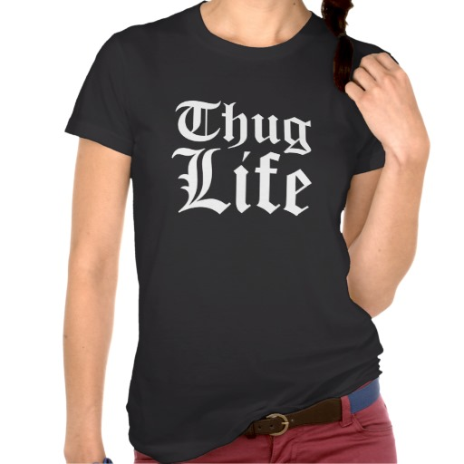Thug Life Ladies Dark Tank Top from Zazzle.com
