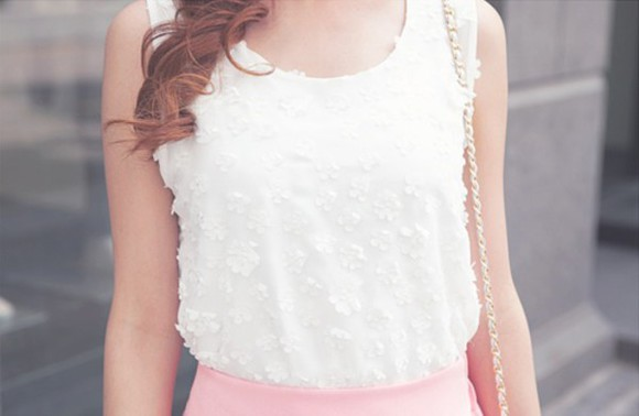 kawaii blouse white blouse cute blouse kawaii blouse floral white flower pattern
