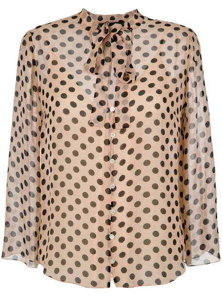 Nk shirt women nude silk top