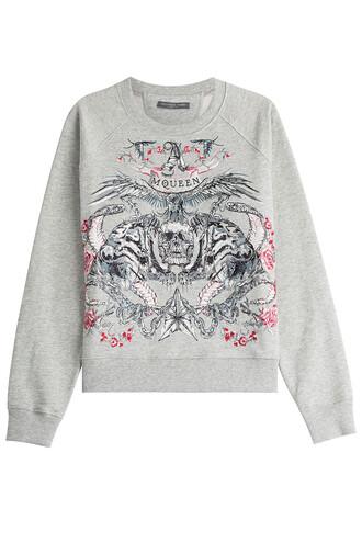 sweatshirt embroidered grey sweater