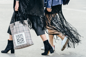 skirt vogue leather suede skirt fringe skirt streetstyle