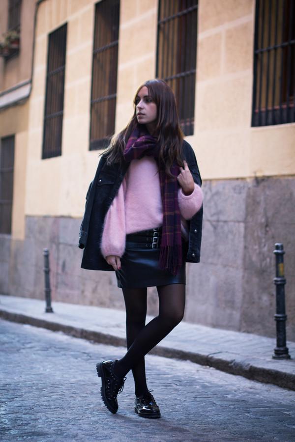 lucitisima sweater skirt shoes jacket scarf
