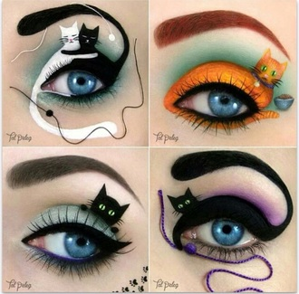 make-up make up cats cute style talent