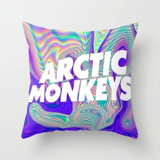 home accessory rainbow arctic monkeys pillow band merch