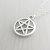 Pentagram soprannaturale Collana ciondolo pentagramma argento, collana pagana, Wiccan ciondolo in argento