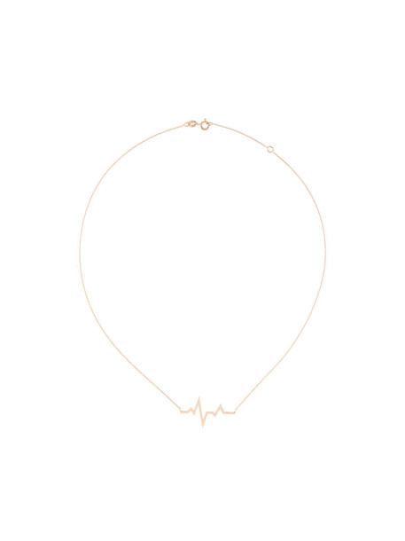 Diane Kordas rose gold rose women necklace gold nude jewels