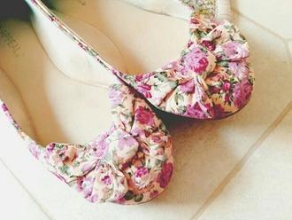 shoes flower flats pink spring summer flowers